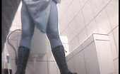 Piss Hunt Two Chics Peeing In Dirty Public Toilet