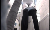 Piss Hunt Voyeur Peeps After Two Babes In Public Toilet