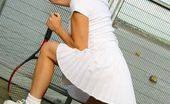 Only Melanie Melanie In Wonderful White Tennis Wear. (Non Nude)