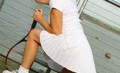 Only Melanie Melanie In Wonderful White Tennis Wear. (Non Nude)
