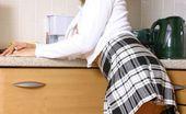 Only Melanie Melanie In The Kitchen In White Knee Socks (Non Nude)
