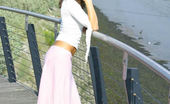 Only Melanie Outside In Long Pink Skirt (Non Nude)