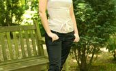 Only Silk And Satin Carla Breathtaking Carla In Casual Trousers And Tight Top. (Non Nude)