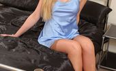 Only Silk And Satin Natalie Grant Naughty Natalie Grant In Sexy Blue Lingerie. (Non Nude)