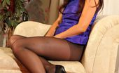 Only Silk And Satin India Reynolds India Looks Sparkling In Purple Evening Dress And Black Tights