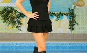 Only Carla Carla In Sexy Black Outfit By A Pool (Non Nude)