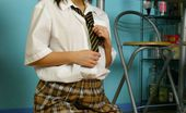 Only Carla Carla In Sexy College Uniform With Tartan Skirt. (Non Nude)