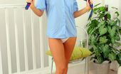 Only Carla Carla In A Cute Blue College Uniform. (Non Nude)