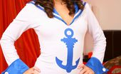 Only Carla Carla Looks Ship Shape As She Slowley Teases Her Way Out Of Her Gorgeous Sailors Outfit