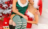Only Carla Sexy Santa Carla Is Joined By Cheeky Elf Melanie In This Naughty Christmas Set.