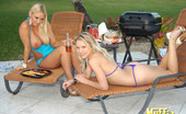 Molly's Life Hot Bikini Babes Natalia And Molly Fuck Eachother In These Outdoor Lesbian Fuck Pics