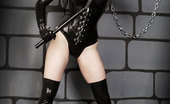 Gothic Sluts Morrigan Hel 236138 Corseted Dominatrix In Dungeon High Heels Whip