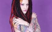 Gothic Sluts Jen Vixen Tattooed Deathrocker Strips Off Seethru Dress
