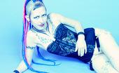 Gothic Sluts Jax Tattooed Goth-Punk Girl In Schoolgirl Skirt