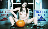 Gothic Sluts Annika Amour Classic Naked Goth Babe Carving Halloween Pumpkin