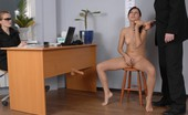 Totally Undressed Male Headhunter Dildo-Fucks A Nude Girl