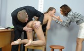 Totally Undressed Female And Male Toy Fuck Domination At An Interview