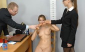 Totally Undressed Busty Candidate Gyno Examined And Sex Toyed
