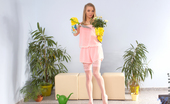 Nubiles Lolly Blonde Newcomer Strips Off Her Pajamas To Reveal Her Naughty Lingerie