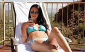 Nubiles Sabrina Banks Gorgeous Coed In A Skimpy Bikini Gets Ready For Naughty Tanning