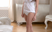 Nubiles Silvia Jons Innocent Angel In White Spreads Open Her Delicious Shaved Pussy