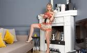 Nubiles Vanessa Hottie Innocent Blonde With Puffy Nipples Pleasures Her Twat Just For You
