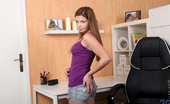 Nubiles Loreen Horny Nubile Has Rock Hard Nipples In A Shirt With No Bra