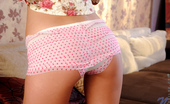 Nubiles Ebbi Petite Spinner Ebbi Flaunts Her Sexy Pink Heart Printed Panties