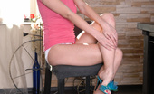 Nubiles Chloe Blue Sexy Chloe Blue Takes Off Her Panties And Plays With Her Shaved Pussy