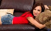 Nubiles Ashlynn Taylor Tempting Amateur Slides Off Her Jean Shorts Revealing Her Cotton Panty