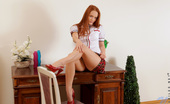 Nubiles Denisa Heaven Seductive College Babe Stuns With Her Long Red Hair And Petite Frame