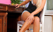 Nubiles Candy Blond Hot Blonde Babe Puts A Pair Of Sexy Heels On Her Pretty Feet