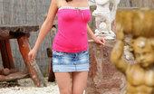 Nubiles Henessy Nubile Henessy Teasingly Exposes Her Pink Panties Outside