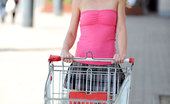 Nubiles Bony Skinny Blonde Teen Lifts Her Skirt In A Public Grocery Store Parking Lot