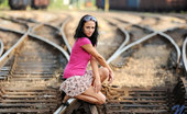Nubiles Terry Anne Gorgeous Babe Terry Anne Flaunts Her Hot Body Outside On The Train Tracks