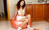 Nubiles Calina Brunette Nubile Calina Wets Her Petite Nude Body With Soapy Water