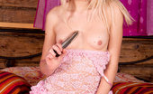 Nubiles Karina Horny Nubile Karina Loves Masturbating Her Pink Snatch With A Stiff Dildo In Bed