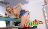 Nubiles Claudie 241224 Desirable Nubile Claudie Gives Herself A Sweet Vibrator Fuck As She Takes A Nice Seat On A Stool