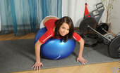 Nubiles Ferrera Cute Teen Ferrera Poses And Teases Us While Sitting On A Gym Ball