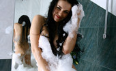Nubiles Mirela Fabulous Nubile Mirela All Wet And Bubled Teasing On The Bathtub