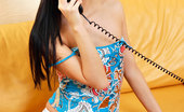 Nubiles Alexcia Beautiful Nubile Alexcia Is Just About To Show Us Her Tits While Having A Phone Conversation