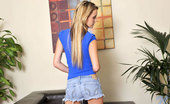 Nubiles Sara James Cute Sara James Peels Off Her Short Jeans To Reveals Her Smooth Teen Ass