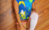 Nubiles Karanovak Gorgeous Teen Temptress Lying On The Floor Decides To Get Naked And Play With Her Blue Rabbit Toy