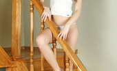 Nubiles Carey Long Legged Babe Posing Really Hot On The Stairways And Flaunting Her Curves
