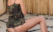 Nubiles Scarlettfay Hot Babe Scarlettfay Teases Us With Her Sexy Soldier Outfit Outdoors