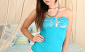 Nubiles Nikky Glamorous Nubile Babe Nikky Teases Us With Her Blue Top And Sexy Skirt In Her Bedroom