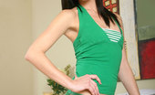 Nubiles Sage Amateur Nubile Sage Teases And Pulls Down Her Jeans Skirt Revealing Her Green Panties