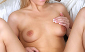 Nubiles Kalilane Frisky Teen Kalilane Strips Off Her Clothes And Fills Her Tender Pussy With A Glass Dildo