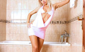 Nubiles Lynx Erotic Teen Slut Lynx Bathes Herself After A Long Day Doing Her First Nude Pictorial