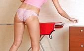 Nubiles Margaret Hot Teen Margaret Gives A Seductive Poses In Her Sheer Panty After Ironing Her Clothes At Home